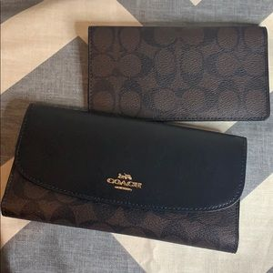 Coach Brand New Check Book Wallet